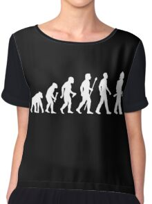 Funny Firefighter Evolution Shirt Chiffon Top