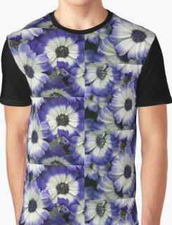 Blue & White Daisies Graphic T-Shirt
