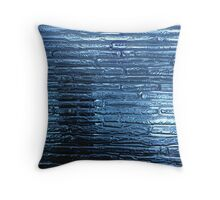 Opaque blue bricks design Throw Pillow