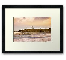Newport Oregon - Nye Beach Framed Print