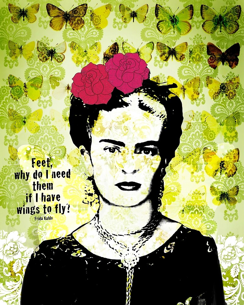 flying frida  by creativemonsoon