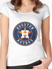 Houston Astros Women's Fitted Scoop T-Shirt