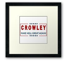 Crowley for President 2 Framed Print