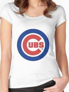 Chicago Cubs Women's Fitted Scoop T-Shirt