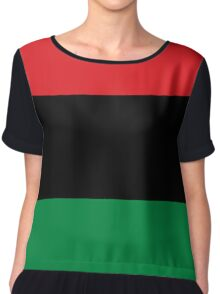 Pan African Flag T-Shirt - UNIA Flag Sticker - Afro American Flag Chiffon Top