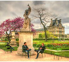 Chillin' at the Tuileries Photographic Print