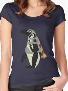 Rocket Penguin Women's Fitted Scoop T-Shirt