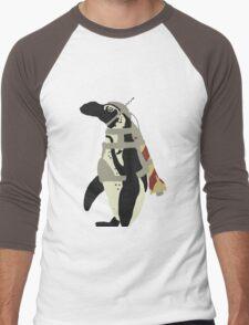 Rocket Penguin Men's Baseball ¾ T-Shirt