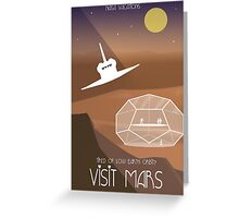 Travel to Mars Greeting Card