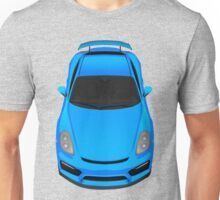 Porsche cayman GT4 (light blue) Unisex T-Shirt