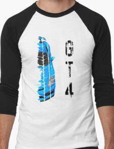 Light blue Porsche cayman gt4 Men's Baseball ¾ T-Shirt