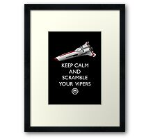 KEEP CALM AND SCRAMBLE YOUR VIPERS Framed Print