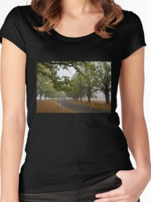 The Road Beckons - New England NSW Women's Fitted Scoop T-Shirt