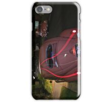 Volkswagen in Coral Red at night. iPhone Case/Skin