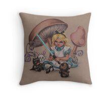 Alice in Fandomland (somewhere in Gaderen's Forest) Throw Pillow