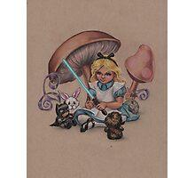 Alice in Fandomland (somewhere in Gaderen's Forest) Photographic Print
