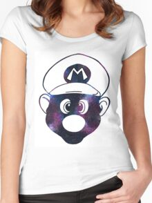 Galaxy Mario Women's Fitted Scoop T-Shirt