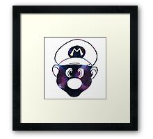 Galaxy Mario Framed Print