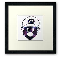 Galaxy Mario Framed Print