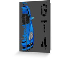 Porsche cayman GT4 (light blue) Greeting Card