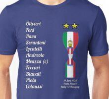 Italy 1938 World Cup Final Winners Unisex T-Shirt