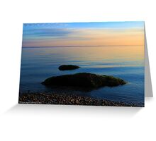 Long Island Sound Horizon In The Morning | East Marion, New York Greeting Card