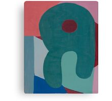 Cubic Shapes and Color Canvas Print