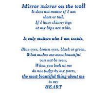 Mirror mirror poem Photographic Print
