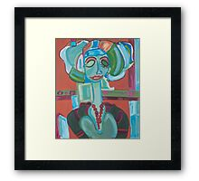 The Green Woman Cometh Framed Print