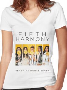 Fifth Harmony 7/27 (Flowers) Women's Fitted V-Neck T-Shirt