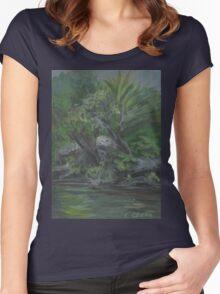 Hidden Fountain AC20130715a  Women's Fitted Scoop T-Shirt