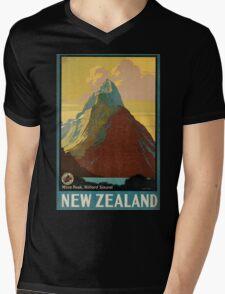 Vintage poster - New Zealand Mens V-Neck T-Shirt