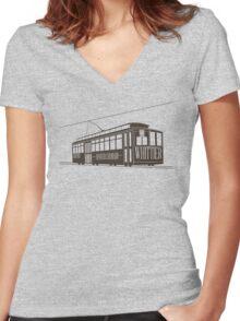 The Whittier Neighborhood in Denver Women's Fitted V-Neck T-Shirt