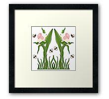 Buzzed Daffodils Framed Print