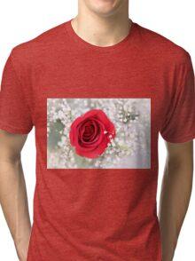 Soft Red Rose Tri-blend T-Shirt
