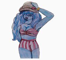 Steven Universe Sapphire- Beach Days One Piece - Short Sleeve