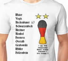 West Germany 1974 World Cup Final Winners Unisex T-Shirt