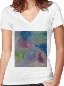 Color Comet Women's Fitted V-Neck T-Shirt