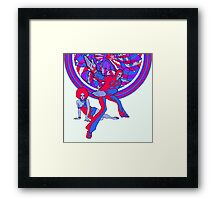 Funky Karate Framed Print