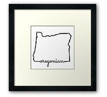 Oregonian  Framed Print