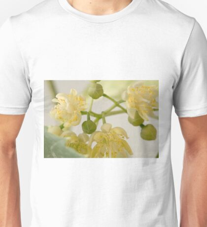 Basswood Tree Blossoms - Macro Unisex T-Shirt