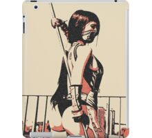 Warrior girl, sexy assasin iPad Case/Skin