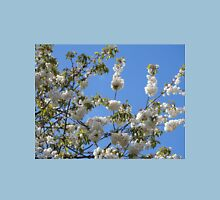 One Fine Day - White Blossoms and Blue Sky Womens Fitted T-Shirt