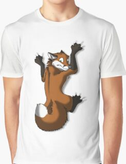 Clinging Red Fox Graphic T-Shirt