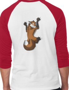Clinging Red Fox Men's Baseball ¾ T-Shirt