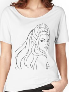 She-Ra Princess of Power (Black Line Art) Women's Relaxed Fit T-Shirt