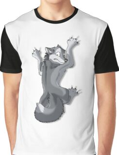 Clinging Gray Wolf Graphic T-Shirt