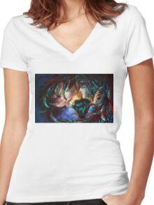 Sophia and Howl - Howl's Moving Castle Women's Fitted V-Neck T-Shirt