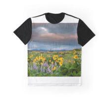 Balsamroot Blooming Painterly Graphic T-Shirt