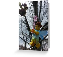Opening the Spring Leaves Greeting Card